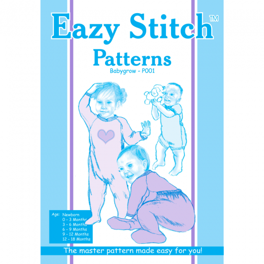Eazy Stitch Baby Grow Sewing Pattern
