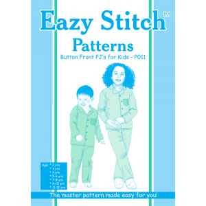 Kids Button Front Pajama Pattern