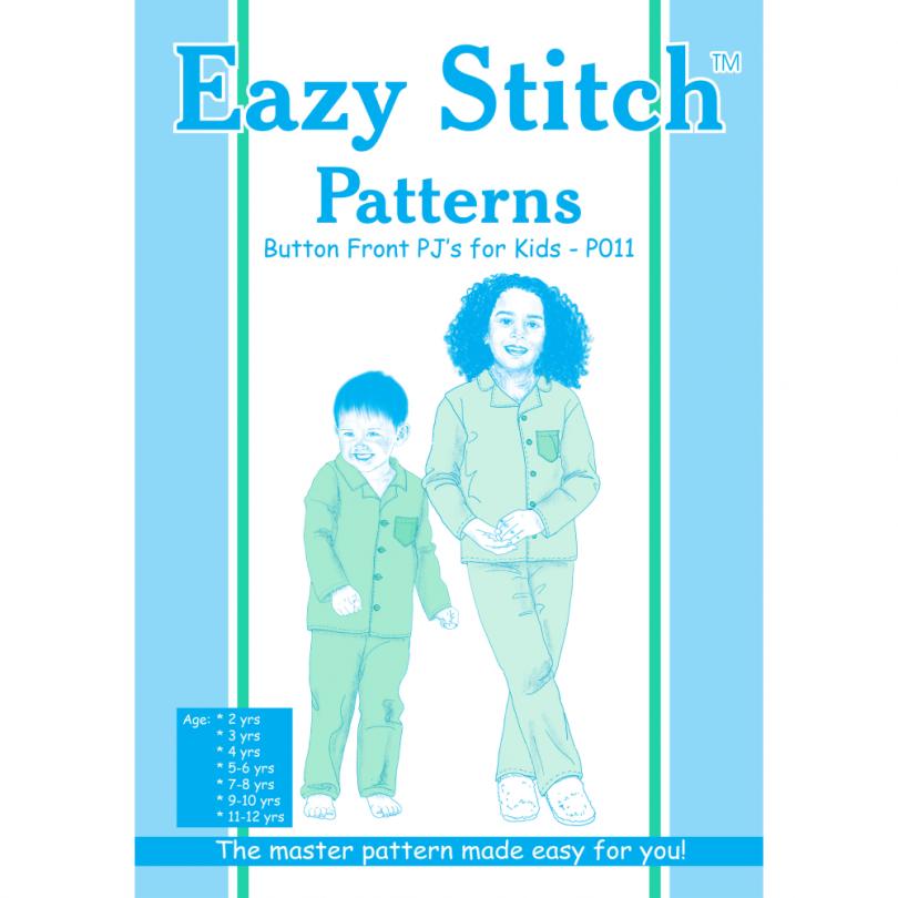 Kids Button Front Pajama Pattern