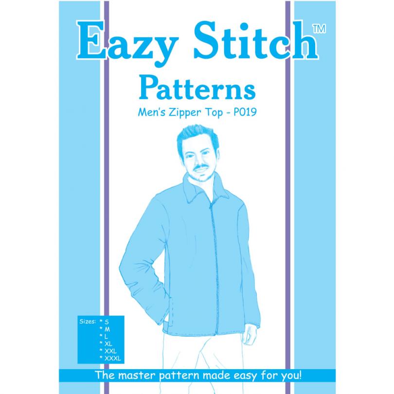 Zippered Mens Jacket Pattern