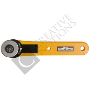 28mm Rotary Cutter - Olfa Straight Handle Rotary Cutter