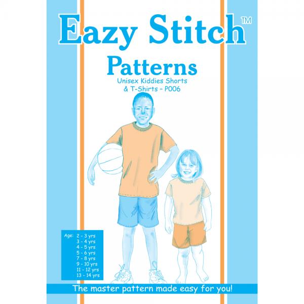 6 Boys & Girls Tshirt & Shorts Sewing Pattern