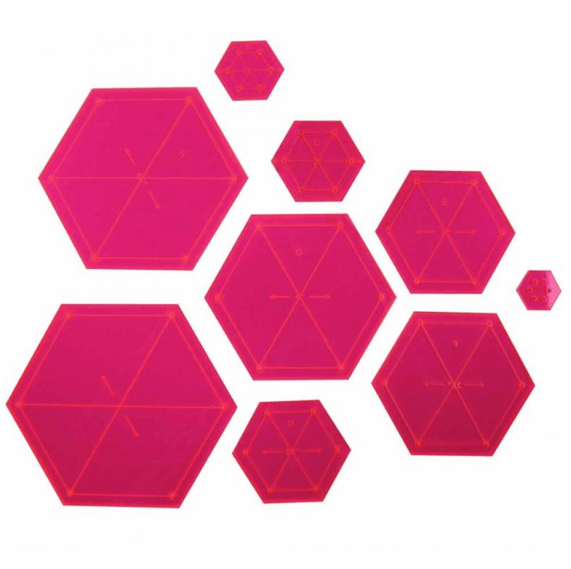 Hexagon Quilt Pattern Template for a Hexagon Quilt