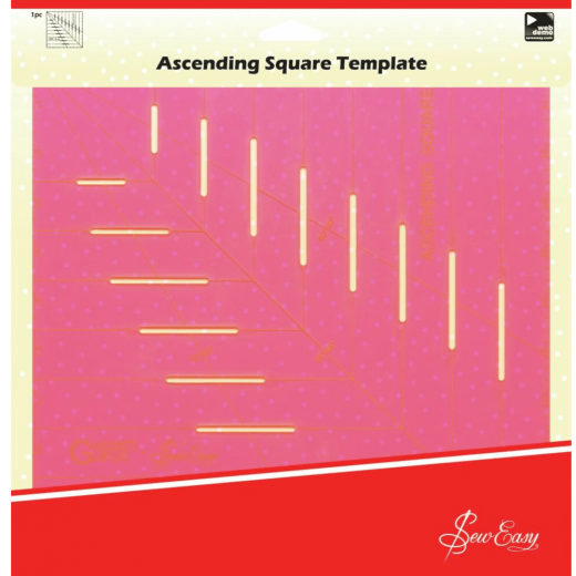 Square Quilt Template - Sew Easy Ascending Square 10x10 inch""
