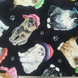 Black with Cats 3806-black