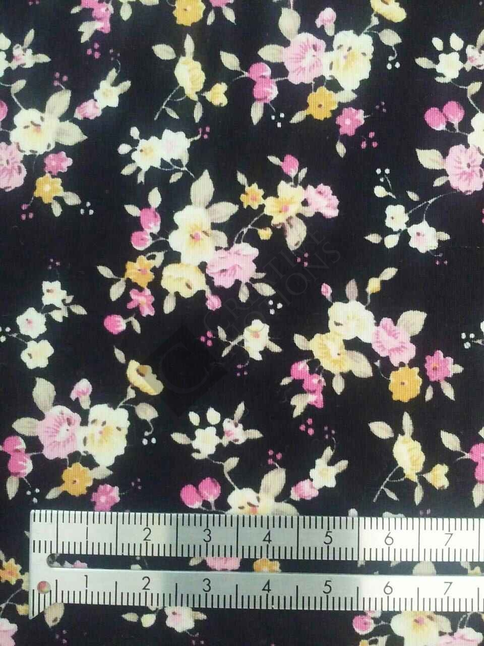 Black with Floral 112041-4