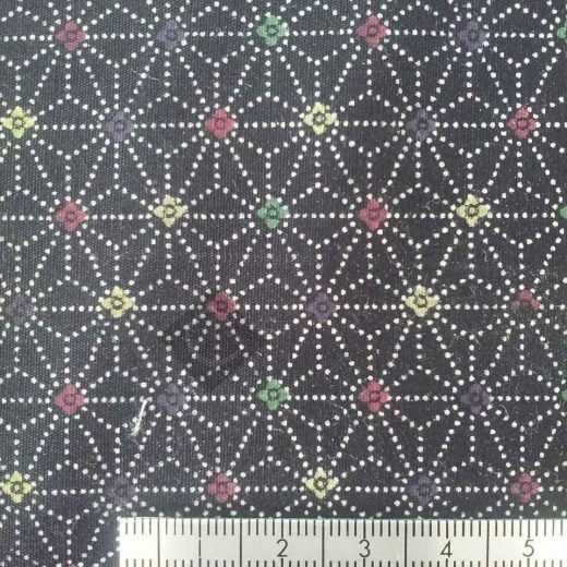 Black with star flowers 12783