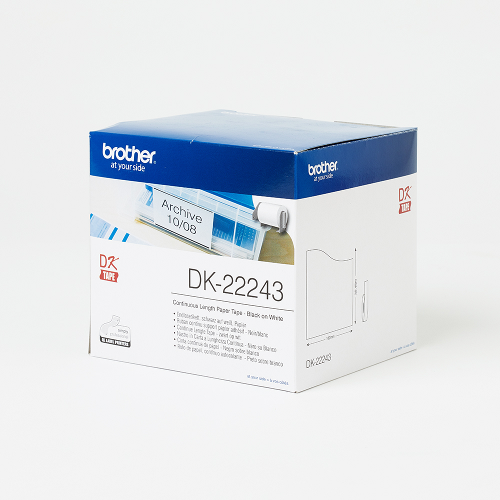 Brother DK22243 product labels