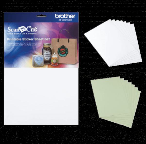 ScanNCut Printable Sticker Sheets