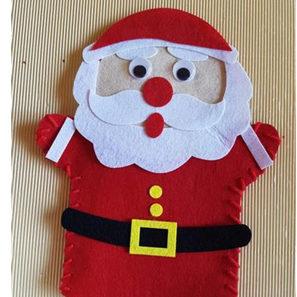 hand puppets felt christmas father