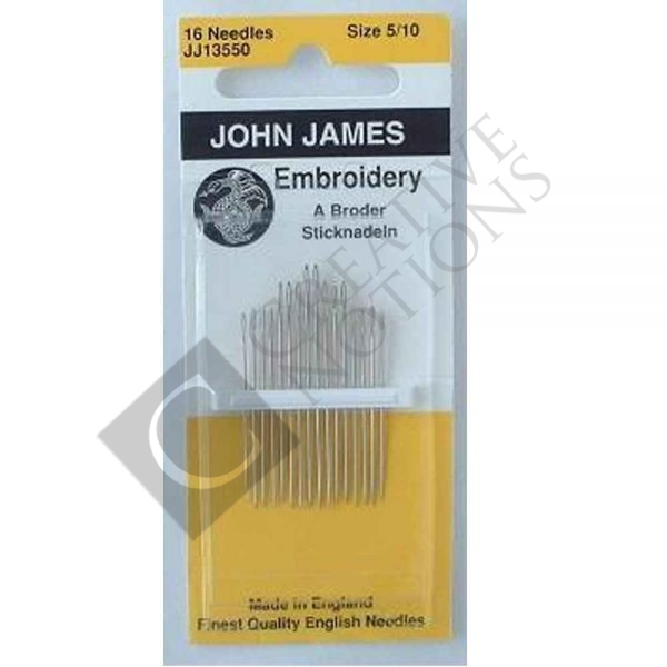 Embroidery Needles 5-10 - John James
