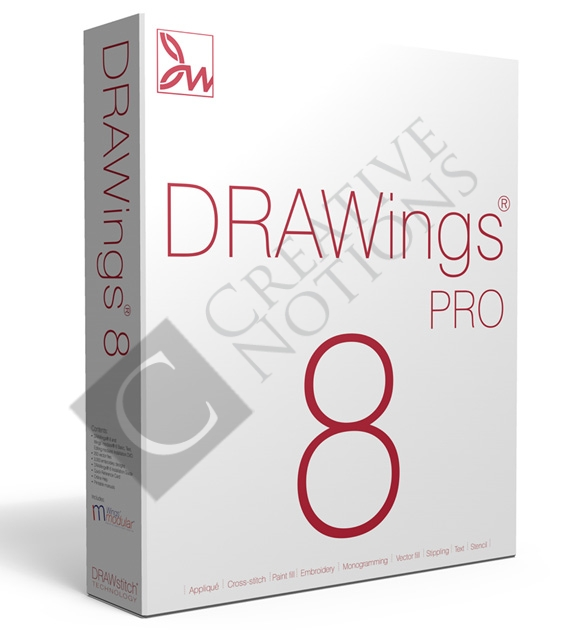 DRAWings 8 Pro Embroidery Software (Full   Upgrade)