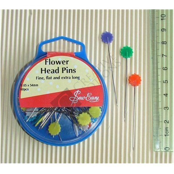 Flat Head Flower Pins - Sew Easy