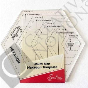 Sew Easy Hexagon Template for Hexagon Quilt Pattern