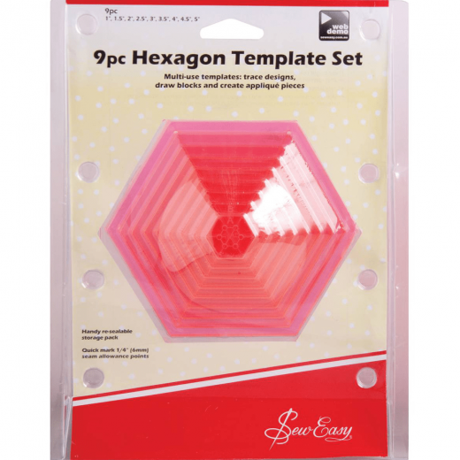 Hexagon Quilt Pattern Template for a Hexagon Quilt