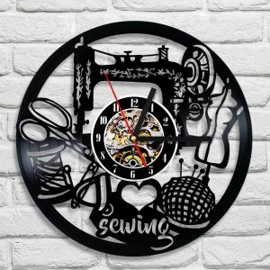 I Love Sewing Vinyl Record Wall Clock
