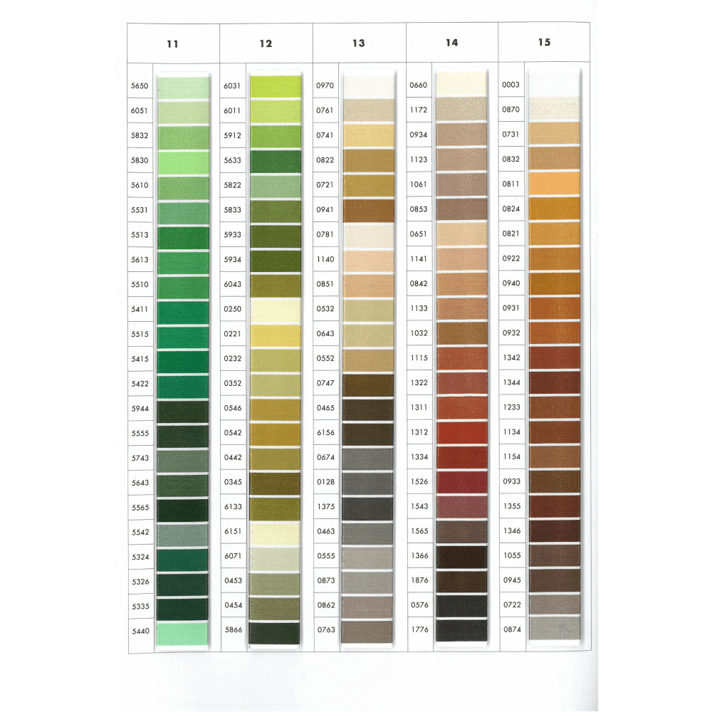 Isacord Color Chart Embroidery Thread Conversion