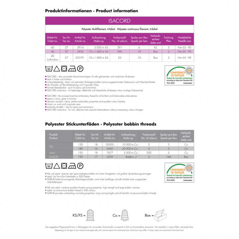 Isacord Color Chart | Isacord embroidery thread conversion chart