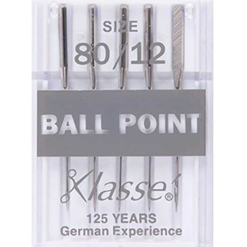 Klasse Ballpoint Needles For Sewing Machines 80/12