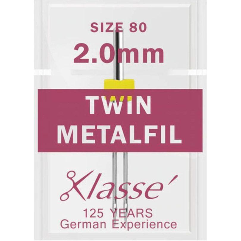 Klasse Twin Metafil Needles 80/2mm