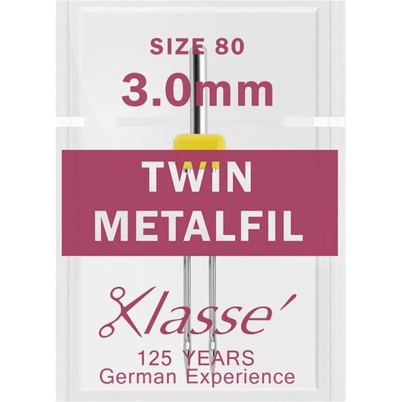 Klasse Twin Metafil Needles 80/3mm