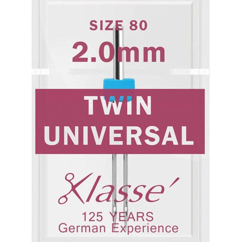 Klasse Twin Universal Needles - 80/2mm