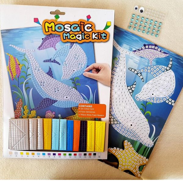 Buy Mosaic Craft Kits: Creative Stickon Dolphin