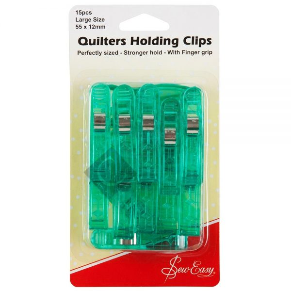 Quilters Holding Clips (55x12mm) 50pcs