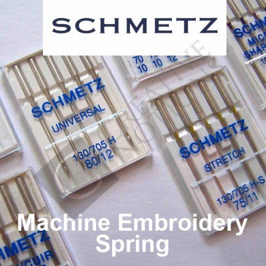 Schmetz Machine Embroidery Spring Needles