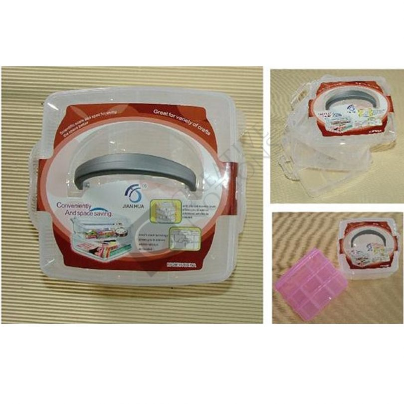 Sewing Kit Box - 3 layer Square carry box