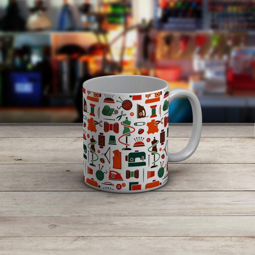 Sewing Mug - Sewing Collage