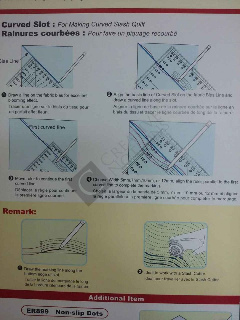 Slash-n-Circle Quilting Ruler 2