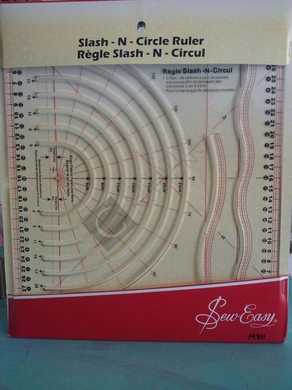 Slash-n-Circle Quilting Ruler -Sew Easy
