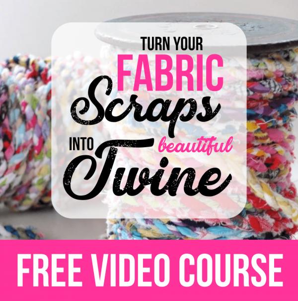 Fabric Scraps into Twine