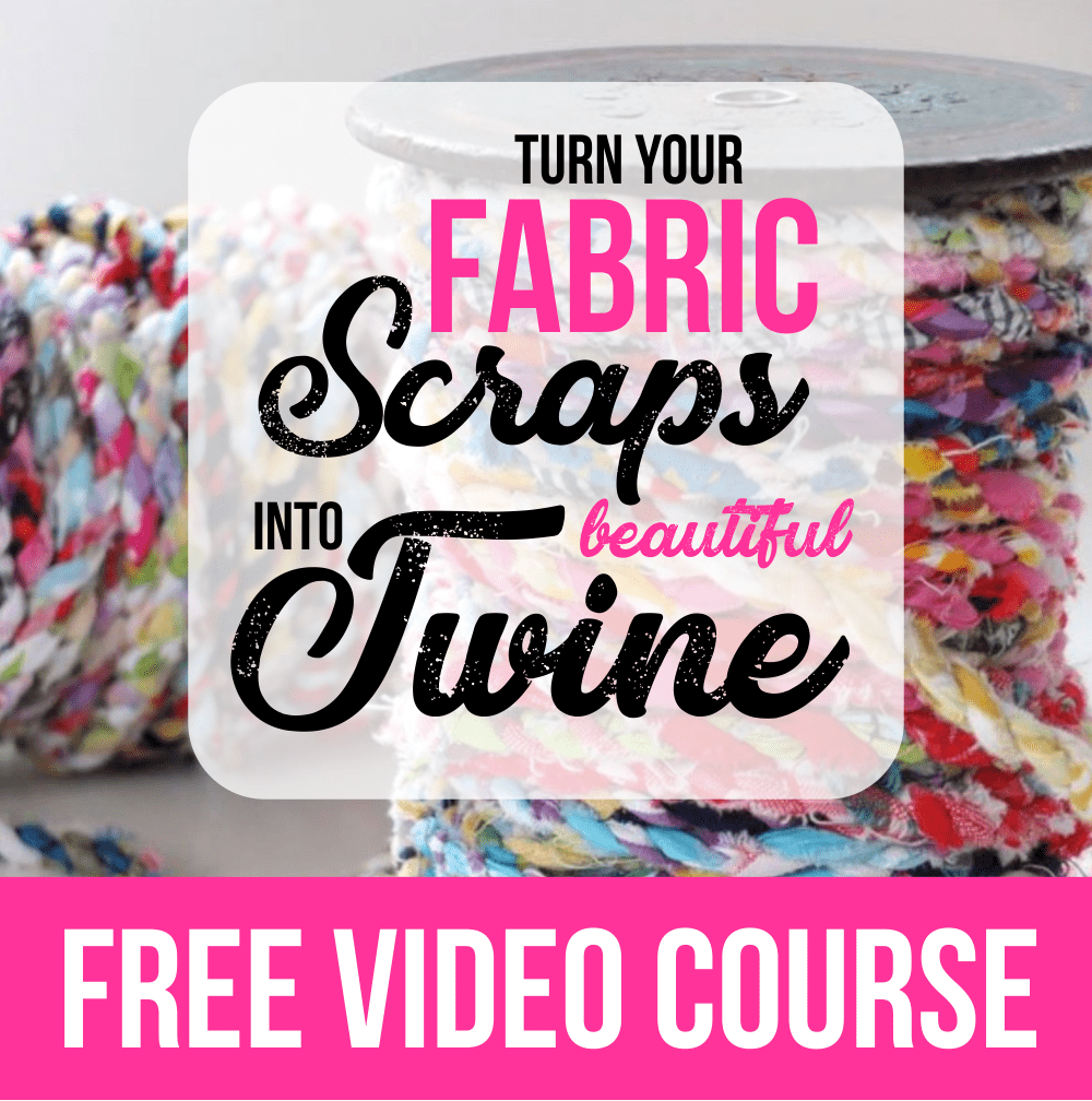 How to Turn Fabric Scraps into Twine | FREE Step-by-Step